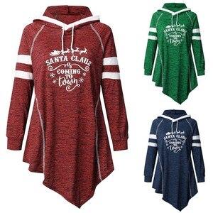 Darmowe strusie świąteczne damskie zimowe koszule z nadrukiem bluza bluza z kapturem T-Shirt moda odzież damska Dropshipping
