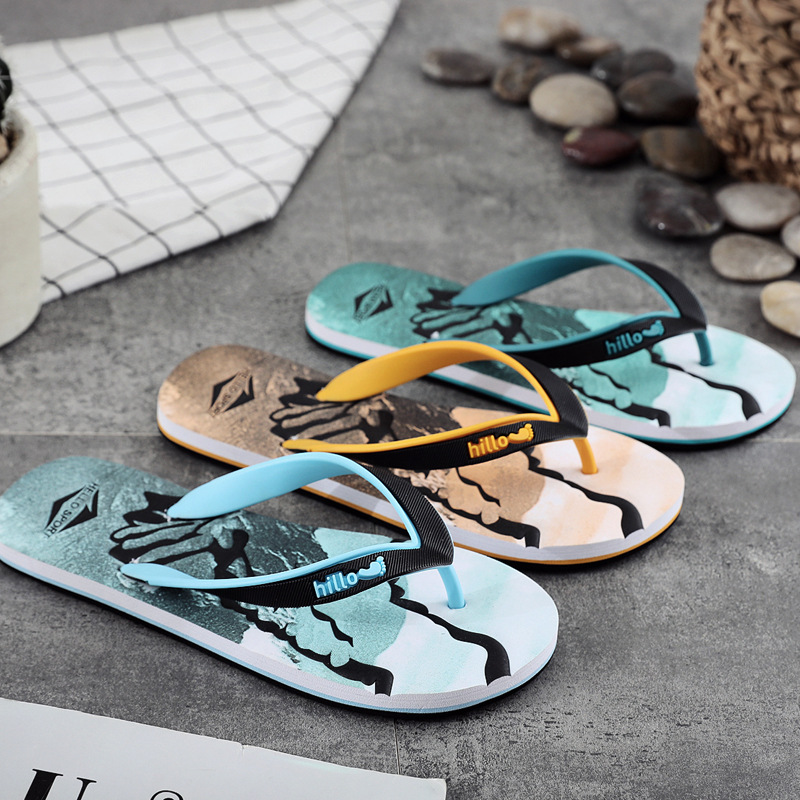 2019 New Style Flip-flops Fashion MEN'S Slippers Summer Cool Outdoor Casual Anti-slip Flip-flop Sandals Eagle Slippers