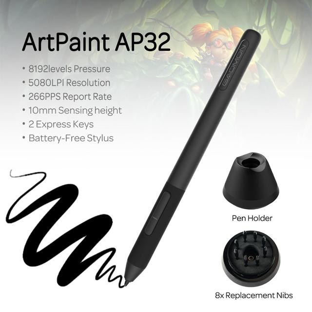 GAOMON PD2200-21.5 Inch Anti-Glare Full Lamination Pen Display with 8 Touch Keys and Support ±60° Tilt Function