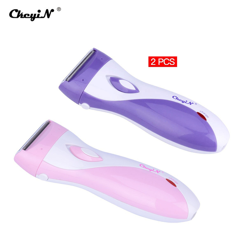 3 Blades Women's Shaver Razor Epilator Electric Rechargeable Lady Shaving Trimmer Hair Removal For Female Leg Bikini Underarm