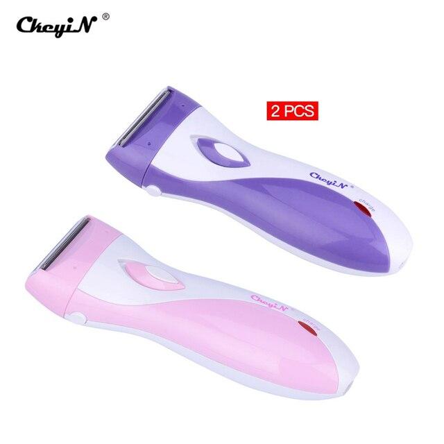 3 Blades Womens Shaver Razor Epilator Electric Rechargeable Lady Shaving Trimmer Hair Removal For Female Leg Bikini Underarm