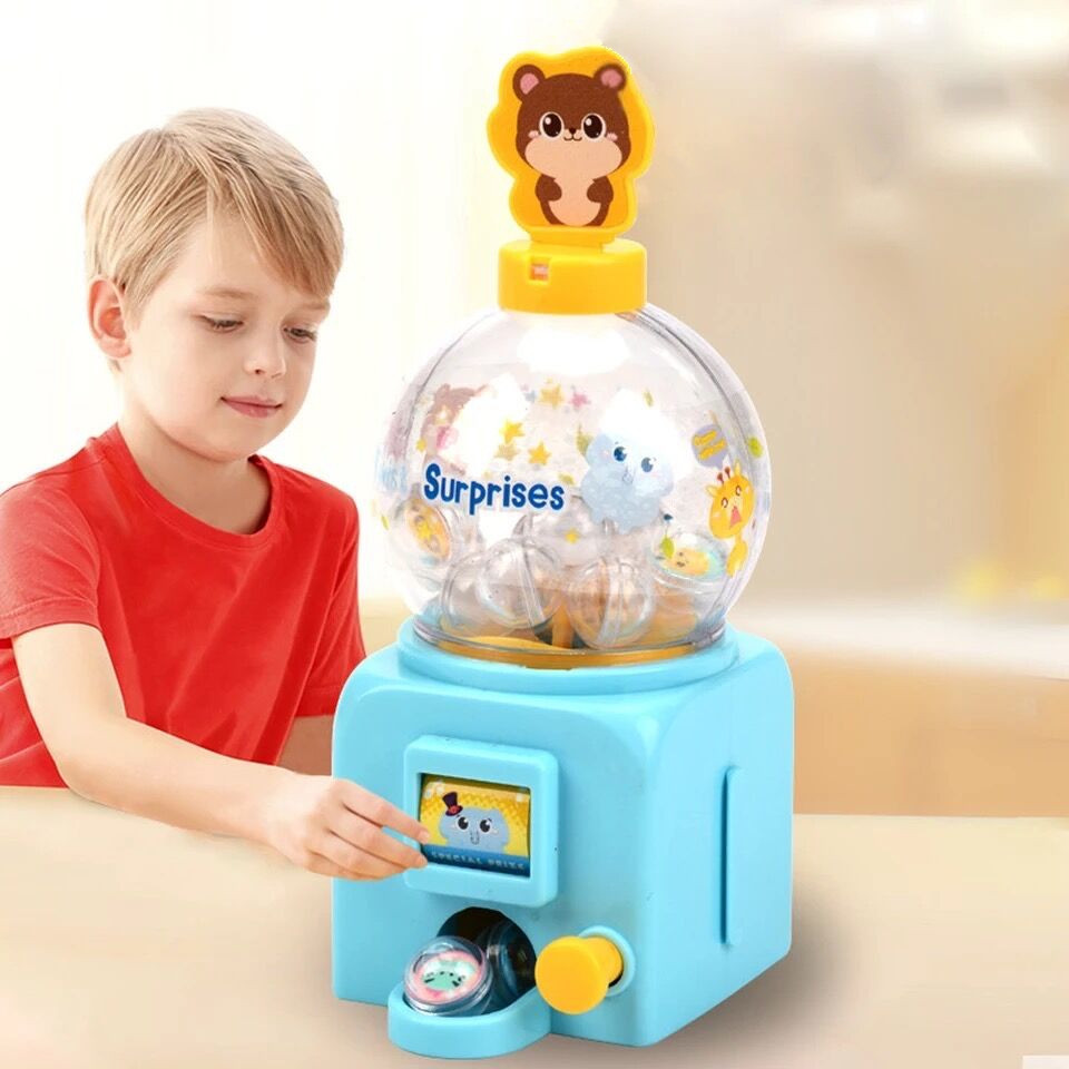 Toy Machine Bubble Storage Jar Candy Dispenser Cute Sweets Kids Ball Children Gift Candy Box Bottle