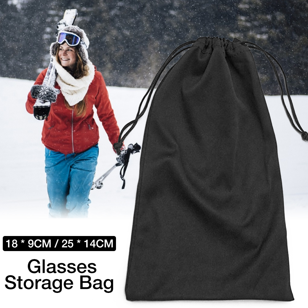 Glasses Storage Bag Ski Goggles Sunglasses Microfiber Durable Pouch Container