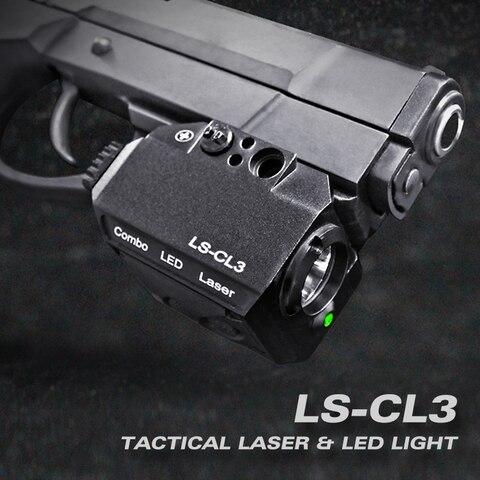 laserspeed ls cl3 luz tatica arma luzes visando laser vermelho aluminio railed pistol e rifle