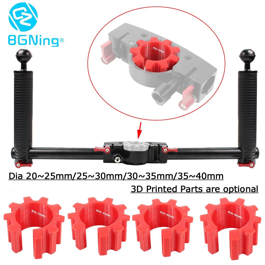 SLR Camera Holder Dual Handheld Grip Stabilizer Extended DSLR Mount Bracket 3D Printed for DJI/zhi yun/Feiyu Gimbals 40mm Handle