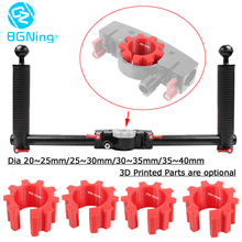 лучшая цена SLR Camera Holder Dual Handheld Grip Stabilizer Extended DSLR Mount Bracket 3D Printed for DJI/zhi yun/Feiyu Gimbals 40mm Handle