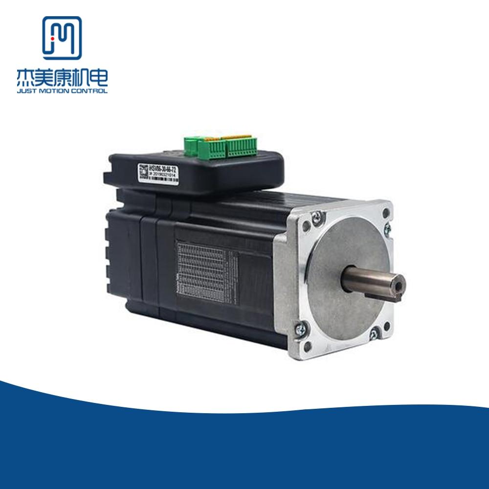 JMC Nema 34 Integrated Servo Motor  660W 72VDC 3000rpm 2.1NM 13.1A Frame Size 86*86MM Encoder Line 1000 Line IHSV86-30-66-72