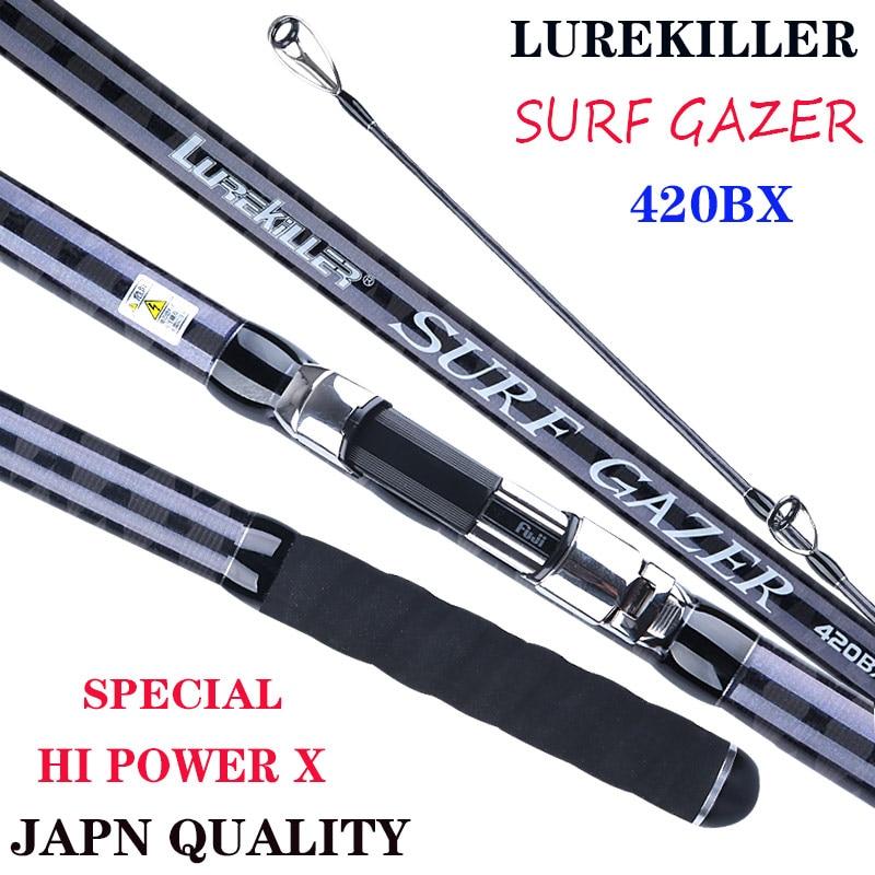 Новое поступление 2020, Газер для серфинга LUREKILLER, японское качество, полный серфинговый стержень Fuji 4,2 м 46 т, Высокоуглеродистый, 3 секции, BX сер...
