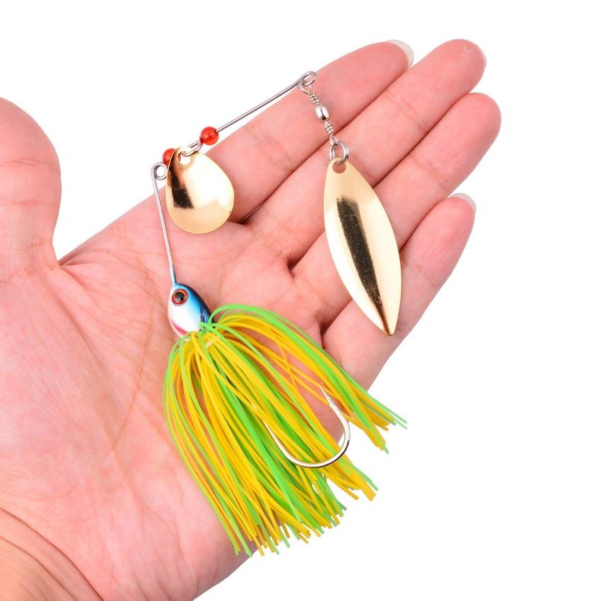 Walleye 8CM 15G Beard fishing lure Buzzbait  spinner bait bass pike walleye