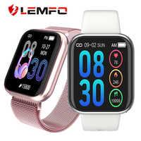 LEMFO kobiety inteligentny zegarek tętno ciśnienie krwi tlen krwi monitorowanie krokomierz Smartwatch mężczyźni kobiety dla Apple Android