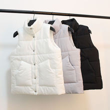 Men's and women's waistcoats are short and versatile, autumn and winter Korean large size thickened light down, fashionable and