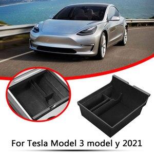 Image 5 - 테슬라 모델 3 Y 2021 자동차 팔걸이 박스 스토리지 주최자 몰려 들고 스토리지 박스 컨테이너 센터 콘솔 홀더
