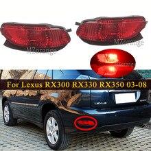 Dla Lexus RX300 RX330 RX350 2003 2004 2005 2006 2007 2008 tylne światła hamowania zderzak ogon reflektor lampa przeciwmgielna Turn Signal