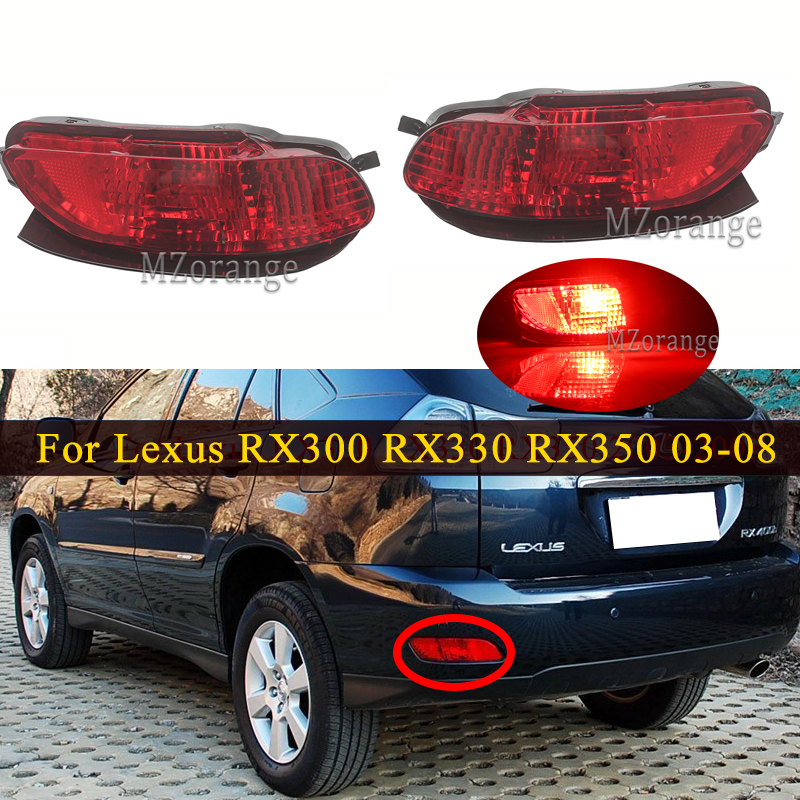 For <font><b>Lexus</b></font> <font><b>RX300</b></font> RX330 RX350 2003-2008 Rear Brake Lights 1PCS LED Bumper Tail Reflector Fog Light Fog <font><b>Lamp</b></font> Turn Signals image