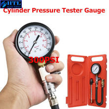 G324 Auto Car Pressure Gauge Motorcycle Petrol Gas Engine Cylinder Compression Gauge Car Meter Test Leakage Diagnostic Tool