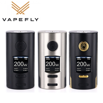 Original Vapefly Kriemhild 200W TC Box Mod power by 18650/20700/21700 Battery Output 200W TC/VW/Curve Vape Mod E-Cigarette original ijoy 225w output diamond mini tc box mod with advanced tc vw modes