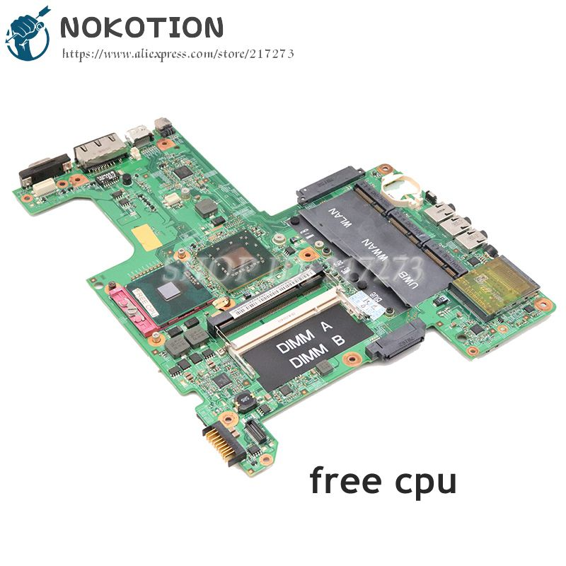 NOKOTION Laptop Motherboard For Dell Inspiron 1525 MAIN BOARD 965GM DDR2 Free CPU CN-0M353G 0M353G 48.4W002.031