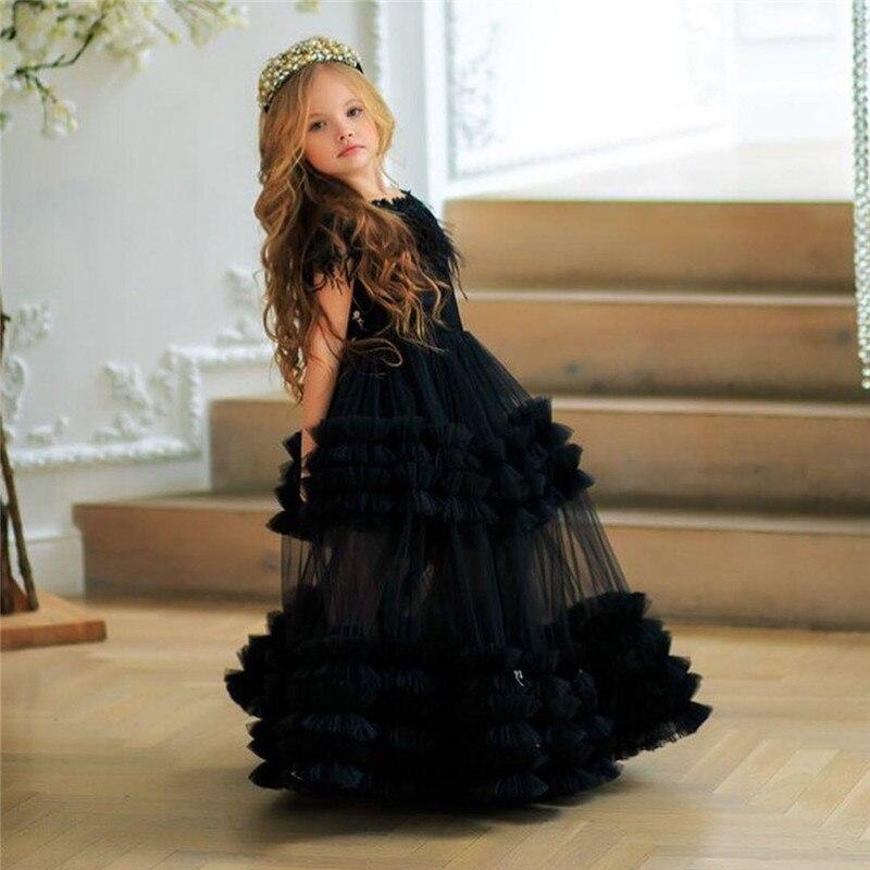 Schöne Blume Mädchen Kleider Kleine Prinzessin Party Kleider Backless Ballkleider Geburtstag Party Kleid