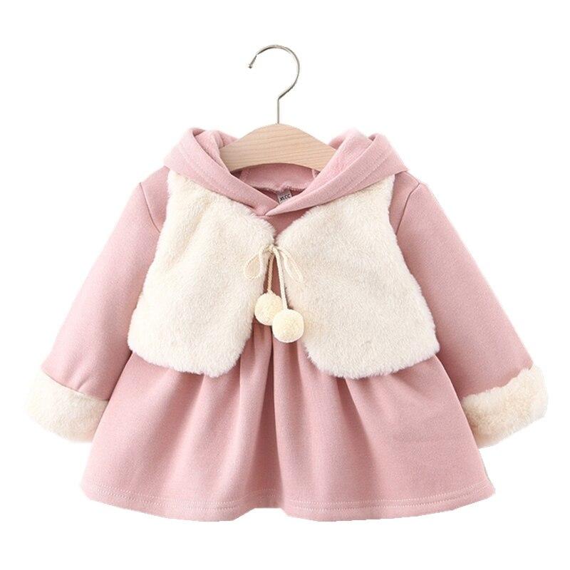 Per Thicken Baby Girl Faux Fur Vest Warm Sleeveless Jacket
