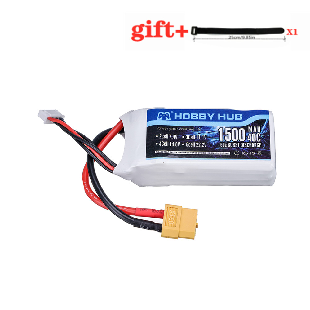 <font><b>3S</b></font> 11.1v <font><b>1500mAh</b></font> LiPo Battery for Rc Car Helicopter Airplane Spare Parts 11.1 v Rechargeable Lipo Battery XT60 for Wltory V950 image