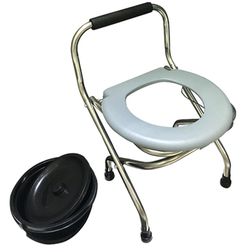 Bedside Commode Chair Heavy-Duty Steel  Seat  Potty  for Adults Handicap Toilet  with Handles