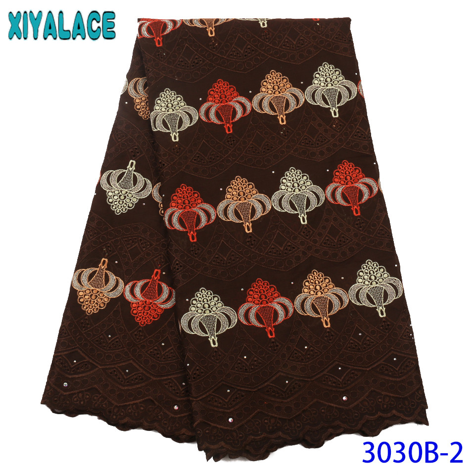 Dry Lace Fabrics High Quality Cotton Lace Fabric 2019 Hot Sale Nigerian Lace Fabrics Swiss Voile Lace For Women KS3030B