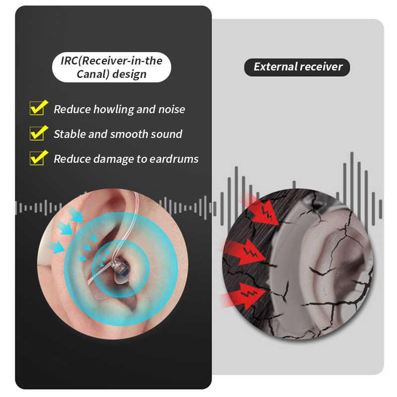Alat Bantu dengar Digital Isi Ulang Profesional Alat Bantu Dengar BTE Alat bantu dengar Telinga Pendengaran untuk Tuli Audifonos Penguat Suara