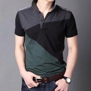Image 1 - JANPA סגנון 2019 מותג מקרית פולו חולצות קצר שרוול גברים קיץ כותנה לנשימה חולצות טי אסיה גודל M 5XL 6XL