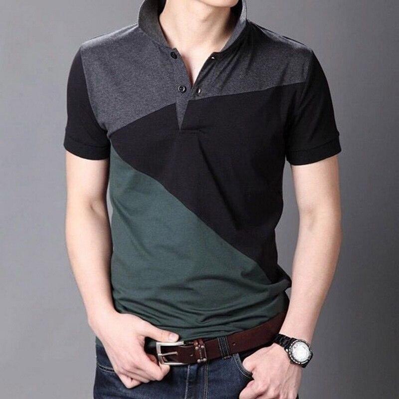 Janpa estilo 2019 marca casual polo camisas de manga curta masculina verão algodão respirável topos t tamanho asiático M-5XL 6xl