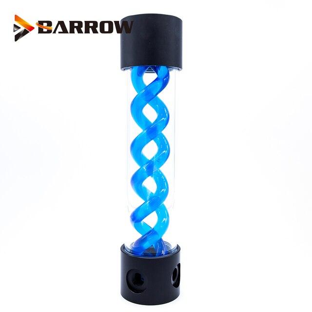 BARROW 255 мм X 50 мм двойная спираль Т Вирус цилиндрическая система освещения бака охлаждающей жидкости с водяным охлаждением POM + PMMA черная крышка