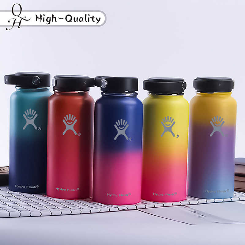 High-Quality Stainless Steel Water Bottle Hydro Flask Water Bottle Vacuum Insulated Wide Mouth Travel Portable Thermal Bottle