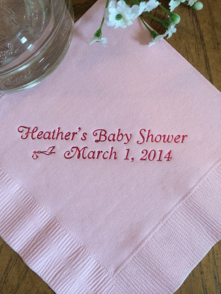 Custom Luncheon Avail! Paper napkins Baby shower Baptism Christening Cocktail Beverage Guest Towel Paper Party Monogram Napkins