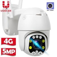 Cámara IP con tarjeta SIM 4G, 5MP, HD, 5X, Zoom óptico, WIFI, vigilancia CCTV al aire libre, PTZ, domo de velocidad, alarma de correo electrónico, APP Camhi
