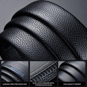 Image 3 - belt male genuine leather mens simple belt fashion designer business new belt Jaguar pattern decorative alloy automatic buckle