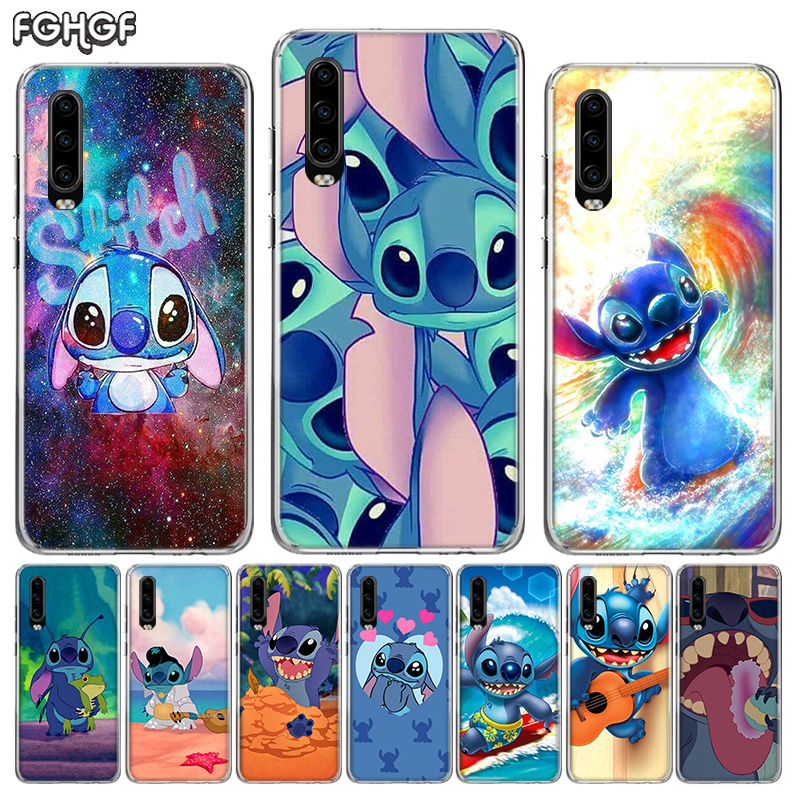 Steward Stitch Cartoon Silicone Phone Back <font><b>Case</b></font> For <font><b>Huawei</b></font> <font><b>P30</b></font> P20 Mate 20 10 Nova 5 5i Pro P10 <font><b>lite</b></font> P Smart + Plus Z 2019 Cover image