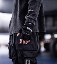 Killwinner luvas de mão metade dedo cheio techwear acessórios ninjawear elementos reflexivos ao ar livre