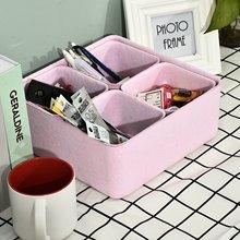 Felt Storage Box Drawer Organizer Desktop Sundries Storage Boxes Cosmetic Jewelry Box Multifunction Home Organizer 5 in 1