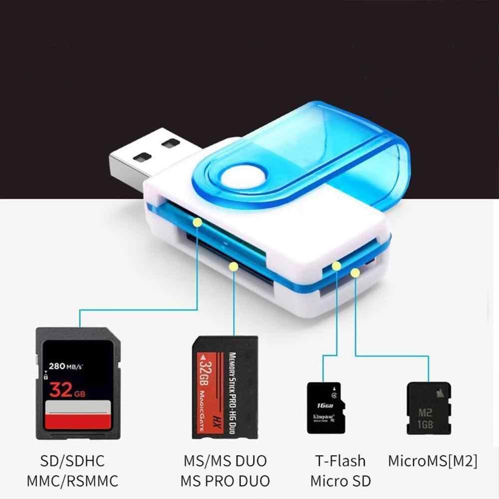 2 قطعة جديد قطب الكل في واحد ذاكرة محوّل قارئ البطاقات USB 2.0 T متعدد فتحة ل SD/TF M2 MMC SDHC MS متعدد الكل في 1 قارئ