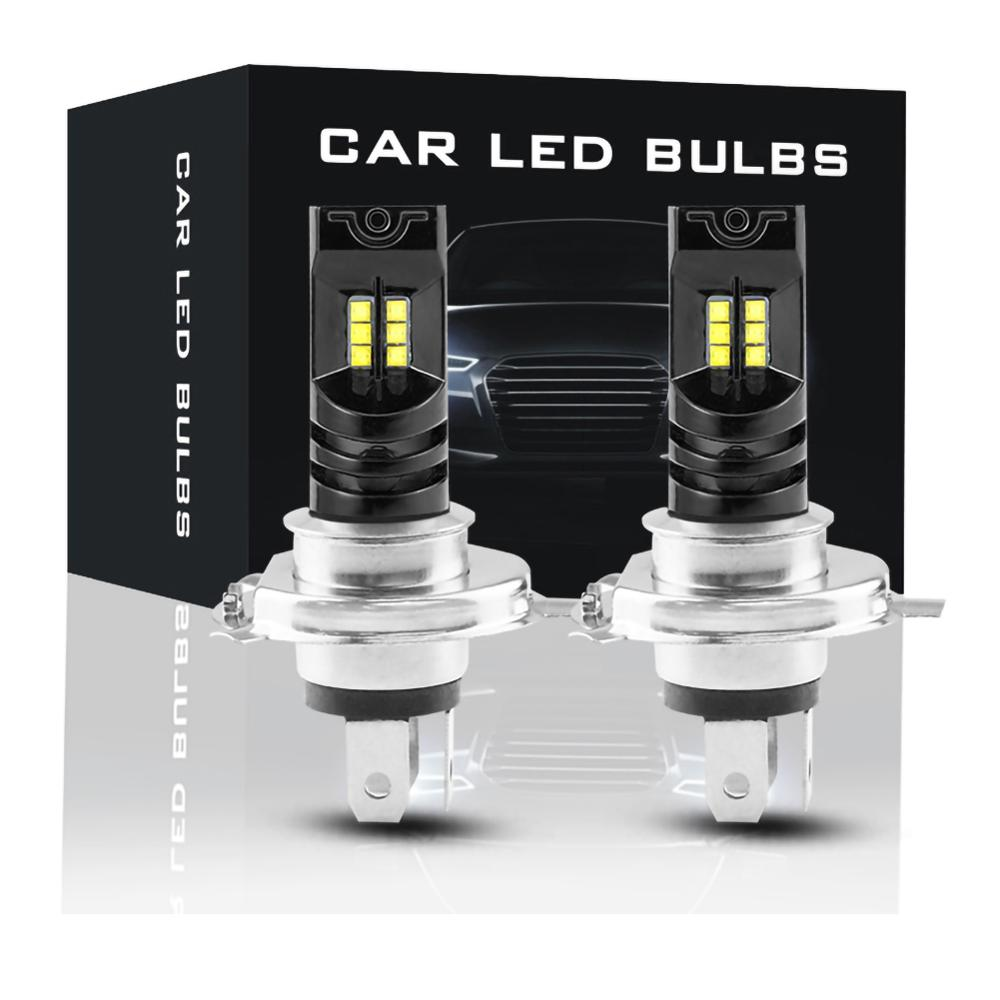 2pcs H4 LED Headlight Bulb Beam Kit Canbus 55W 15000LM LED Canbus 6000K Car Light Headlamp IP68 Conversion Globes Headlight Bulb Pakistan