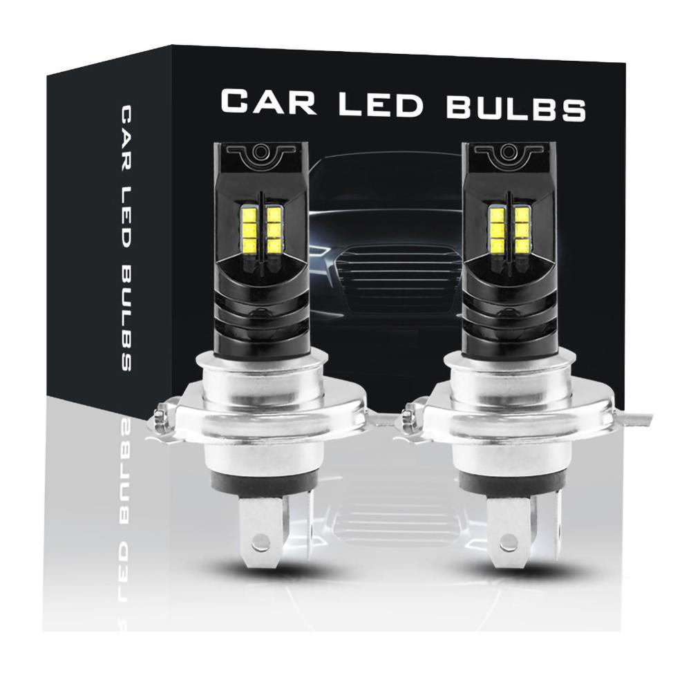 2 шт. H4 светодиодный головной светильник луча комплект Canbus 55 Вт 15000LM светодиодный Canbus 6000 К автомобильный светильник фары IP68 преобразования о...