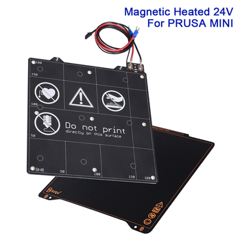 Magnetic Heatbed 24V 100W Spring Steel Sheet Build Plate For Prusa MINI 3D Printer Heated Bed Kit 202x186x2mm 3D Printer