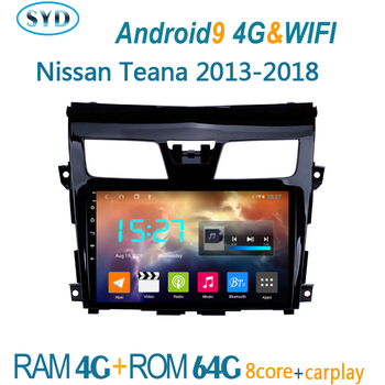 car radio FOR Nissan TEANA 2013 2018 multimedia player GPS navigator coche audio auto stereo autoradio android bluetooth atoto image