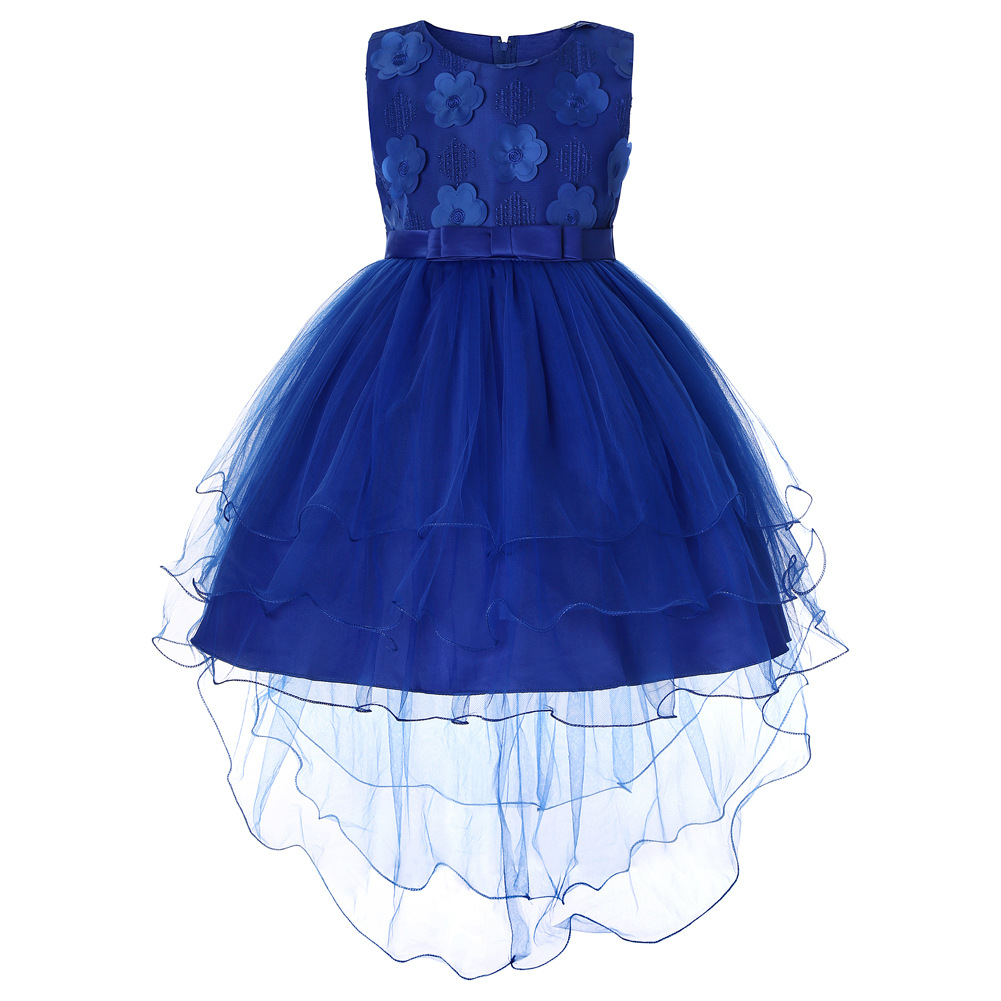 Xin Hui Tailing CHILDREN'S Full Dress Big Boy Sleeveless Gauze Princess Dress Children Shirt