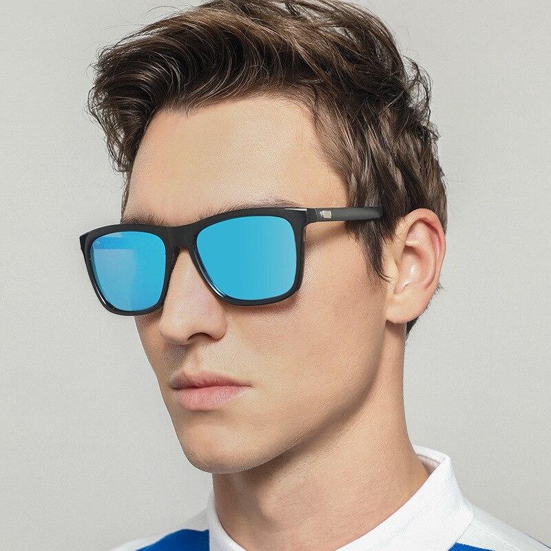 DHK New Style Men And Women Polarized Sunglasses Colorful Reflective Fashion Sunglasses Aluminum Magnesium Mirror Leg A387