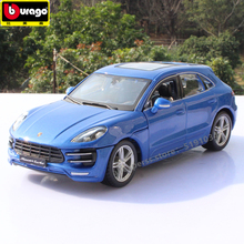 Bburago 1:24 Porsche Macan alloy car model simulation car decoration collection gift toy накладки на замки пластиковые для porsche macan 2013