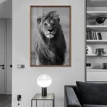 Animal leão preto e branco animais olhos pintura da lona e preto e branco cartaz casa sala de estar decoração pintura