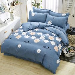 Gift Single Person Three-piece Set Plant Cashmere Wool Cartoon Grounded Four Piece Bedding Set Students Bedding Article
