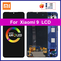 AMOLED For Xiaomi Mi 9 Display MI9 LCD M1902F1A Screen Touch Digitizer Assembly Parts Display Xiaomi MI 9 Replacement M1902F1G