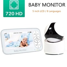 Video Baby Monitor 5 inch Display 2-way Audio Talk 720P Baby Camera Music Melody Night Vision Security Infant Monitoring Camera wireless baby sleeping monitor temperature display video baby monitor with camera monitoring night vision nanny 2 way audio talk