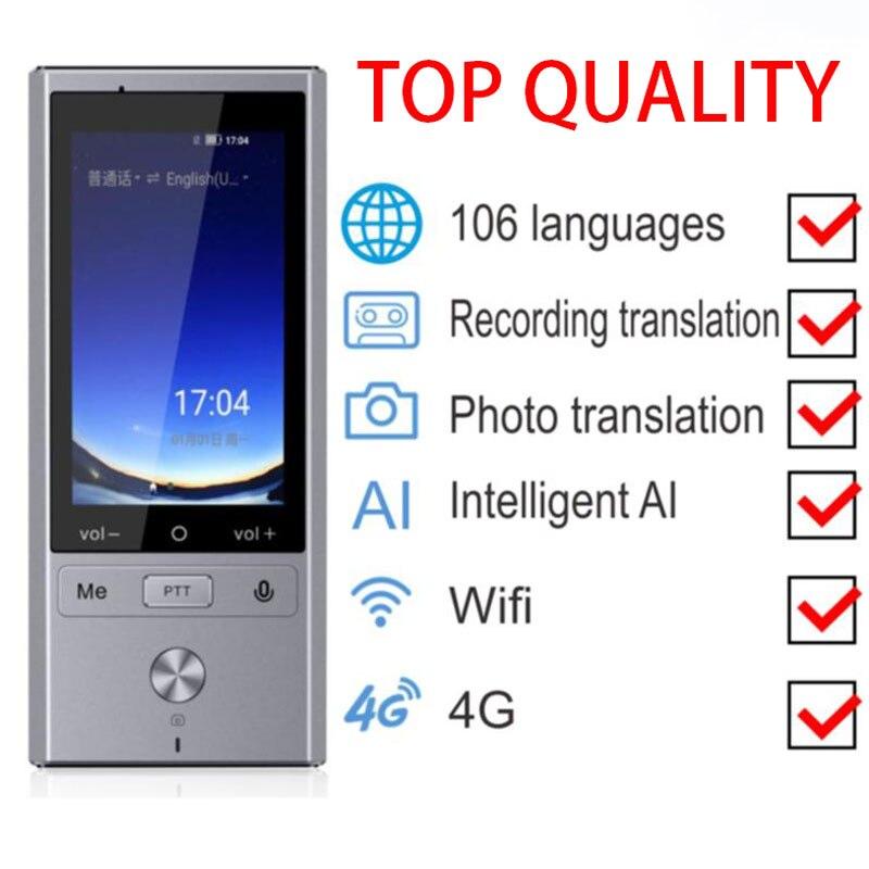 traducteur vocal instantané de poche 4G traducteur de traduction instantanée dispositif intelligent portable voix multi langues hors ligne interprète simultaneo russe photo - 2